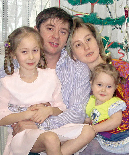 Брекоткин с женой и детьми