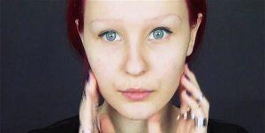 Анастасия Шпагина без макияжа