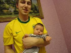 Сергей Воробьев с сыном