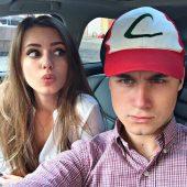 Николай Соболев с девушкой