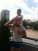 Алексей Щербаков с сыном