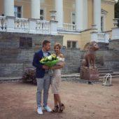 Костя Павлов с женой на свадьбе Макса Брандта
