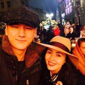 Нурлан Сабуров с женой