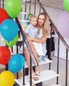 Ольга Агибалова Гажиенко с сыном