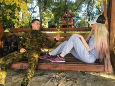 Сергей Пынзарь с женой Дарьей