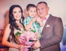 Степан Меньщиков с женой и сыном