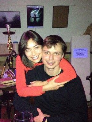 Виктор Комаров с женой