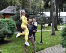 Дарья Пынзарь с мужем и сыном