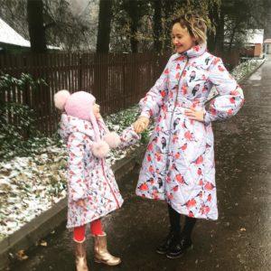 Екатерина Баранова с дочкой