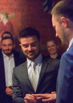 Евгений Бороденко с мужем свадьба