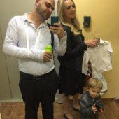 Илья Гажиенко с женой и сыном
