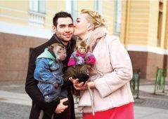 Надежда Ангарская с мужем