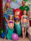 Олег Верещагин с семьей