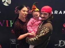 Инна Воловичева с мужем и дочкой