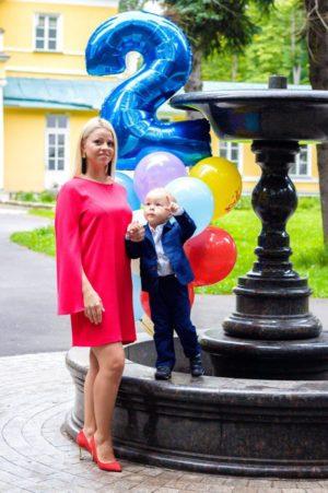 Оксана Стрункина с сыном