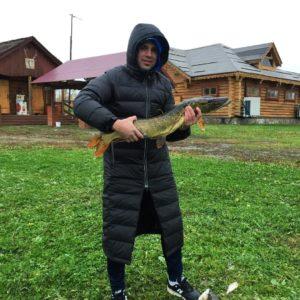 Сергей Пынзарь на рыбалке