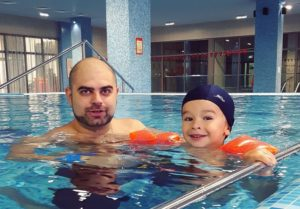 Илья Гажиенко с сыном