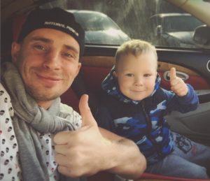 Константин Иванов с сыном