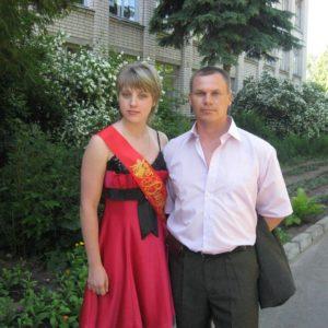 Юлия Ковалева на выпускном